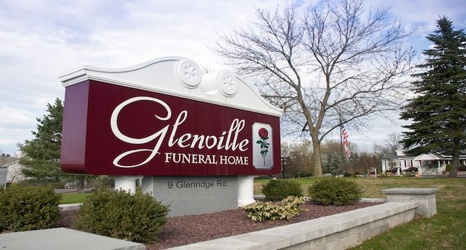 Glenville Funeral Home sign